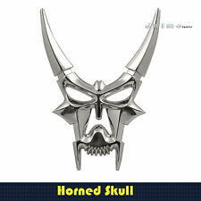 3D STICK ON HORNED SKULL EMBLEM DECAL ABS CONSTTRUCTION CAR TRUCK BOAT SUV'S