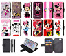 MINNIE MOUSE Disney Inspired Wallet Flip Phone Case Galaxy S7,8,9, 10 Plus