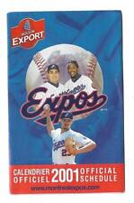 MLB BASEBALL 2001 MONTREAL EXPOS OFFICIAL SCHEDULE !!