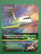 12/1998 PUB DASSAULT AVIATION FALCON MIRAGE CATIA CAD CAM 3-D GERMAN AD