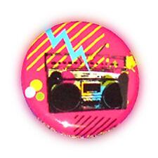 Badge GHETTO BLASTER THUNDER Pink Rock Pop Culte Hip Hop Rap retro button Ø25mm