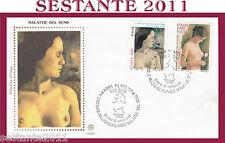 ITALIA FDC FILAGRANO 2000 MALATTIE DEL SENO NUDO TOPLESS ANNULLO ROMA H531