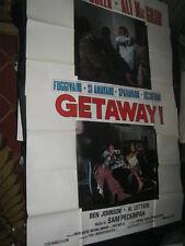 Original Italian THE GETAWAY 55x78 4 Sheet PECKINPAH STEVE MCQUEEN ALI MACGRAW