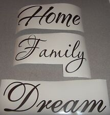 3 Pack Home Family Dream Interior Home Vinyl Decal FP1