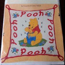Winnie the Pooh Cross stitch Pillowcase Disney Vintage DIY Hobby Honney Pot