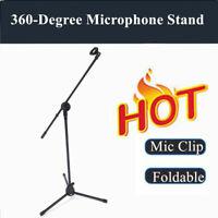 1pcs Microphone Boom Stand Mic Clip Folding Arm Tripod Height Adjust Holder