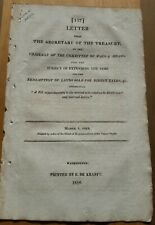 1818 Secretary of Treasury Letter on  REDEMPTION OF LANDS SOLD FOR DIRECT TAXES