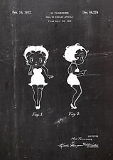 BETTY BOOP1931Patent Fine Art Print Galeriequalität A4. Kunstdruck 01