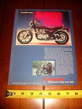 1977 KAWASAKI KZ 1000 LTD  - ORIGINAL AD