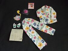 Barbie Doll   Fashion Ave   Flowered Pajamas, Tea Cup, Slippers