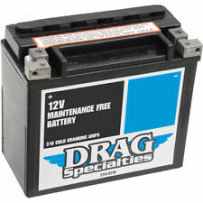 Drag Specialties AGM Battery for Harley FLST FXST FXR Buell Models