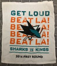 Sharks Stanley Cup Playoff Rally Towel Sharks vs. King Beat LA Get Loud SJ 2014
