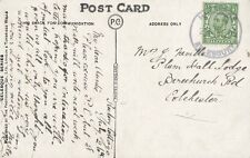 HARDWICK/AYLESBURY : 1912 Rubber Ring cancel on picture postcard