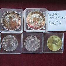 7 Unzen Silber münzen 2x 2 Oz und 3x 1 Oz Australien gesamt 155,5 Gramm Fein AG
