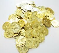 150 PLASTIC GOLD COINS PIRATE TREASURE CHEST  PLAY MONEY BIRTHDAY PARTY FAVORS