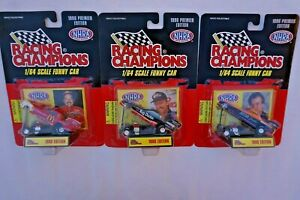 1996 Racing Champions Premier Edition 1/64 Scale Funny Car NHRA - Lot of 3