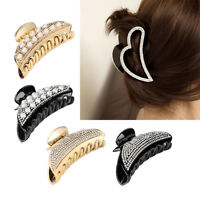 Hairgrips Crab Barrette Bun Maker Hairpins Hair Jaw Clip Crystal Claw Clips