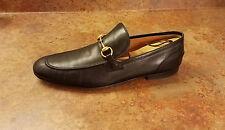 Gucci 'Jordaan' Bit Loafer Black Leather Shoes Mens Size 12 US 11 UK MSRP $695