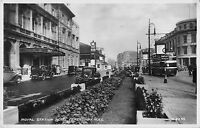 BR81349 royal station hotel ferensway hull real photo car double decker bus   uk
