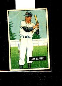 1951 BOWMAN #130 TOM SAFFELL PIRATES VG E01495