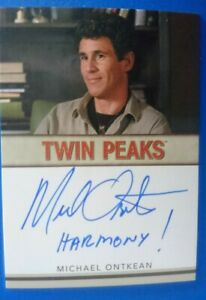 Twin Peaks Rittenhouse Archives Michael Ontkean Inscription autograph card