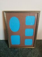 "Beautiful Vintage Collage Gold Metal Picture Frame Measures 6"" × 8"""