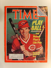 PETE ROSE AUTOGRAPHED SIGNED AUGUST 19 1985 TIME MAGAZINE w/ CERTIFIED LOA (453)