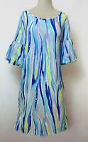 """New Lilly Pulitzer Women's """"Shore Perfection,"""" Lindell Dress, L"""