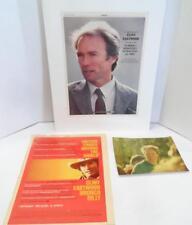 LOT 3 Actor CLINT EASTWOOD Memorabilia 1 PHOTO & 2 VARIETY ADVERTISEMENTS 1980s