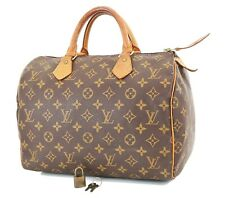 Authentic LOUIS VUITTON Speedy 30 Monogram Boston Handbag Purse #36572