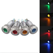 1x Universal Multi Color 8mm Warning LED Indicator Light For Car Truck Van Boat