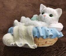 "Cute Calico Kittens Catnap ""Sweet Dreams"" 1994 Priscilla Hillman"