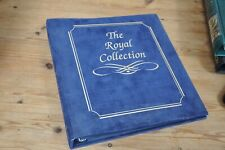 Two first day cover albums blue Royal Collection and green plain album