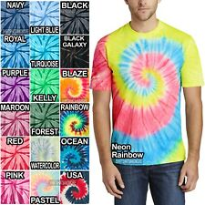 Spiral Tie Dye Mens T-Shirt Blank Tye Dyed Tee S, M, L, XL, 2X, 3X, 4X NEW