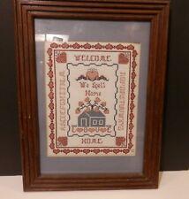 Framed 16 1.2 X 12 1/2 Needlework Sampler-We Spell Home Love & Abc'S