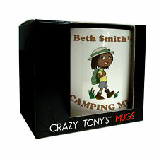 Girls Fun Camping Gifts, Lady Campers Mug, Crazy Tony's, Female Camping Presents