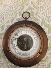 Storm Veranderlich Bestandig Wood & Brass German Barometer
