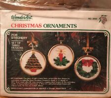 Wonder Art Needlectaft Chrstmas Ornaments No.5890