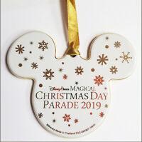 "NWT Disney Parks 4"" Magical Christmas Day Parade 2019 Mickey Ornament Ceramic"