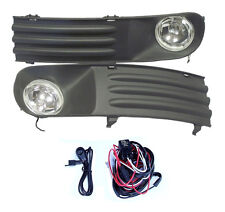 GRILLE FOG LIGHTS VW TRANSPORTER T5 T28 T30 2003-2009 SET OF 2 NEW & WIRING KIT