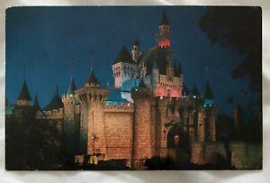 Vintage Disneyland Fantasyland postcard PM 1960 Sleeping Beauty's Castle CA - WI