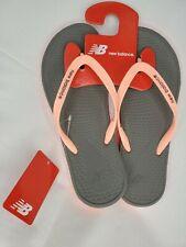 New Balance Women's Sz 9 Sandals Grey Pink NB Pro Thong Cushioned Flip Flop New