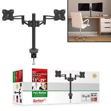 "Universal Dual Computer Monitor Desk Mount Bracket 15"" - 29"" Flat/Curved"