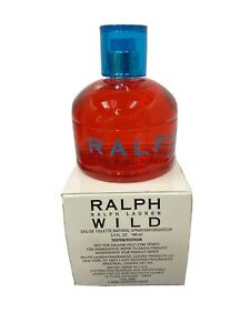Ralph Wild 3.4 oz. Women Eau De Toilette New Tester With Box and Cap Vintage