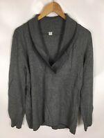 S. OLIVER Pullover, grau, Größe 46, Baumwolle