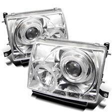 Toyota 97-00 Tacoma Dual Halo LED Projector Headlights LED Style Chrome