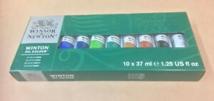 winton oil colour 10x37ml paint tubes winsor newton art artist