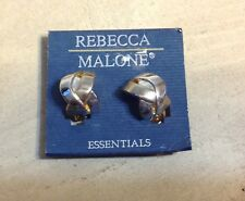Rebecca Malone Twist Knot Design Clip On Earrings New On Card