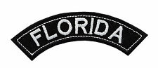 FLORIDA TOP MINI ROCKER EMBROIDERED MOTORCYCLE PATCH