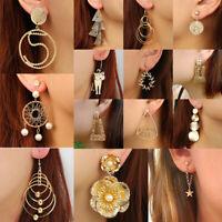 Multi-couches cercle stud goutte balancent boucles d'oreilles géométrie bijoux